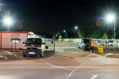 Parking 66 w Pyrzowicach widok w nocy